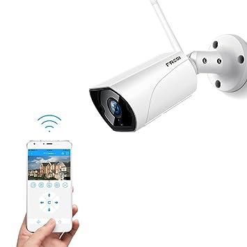 Fredi HD 1080P Videocámaras de vigilancia wifi exterior con detección de movimiento cámara IP WIFI Camera