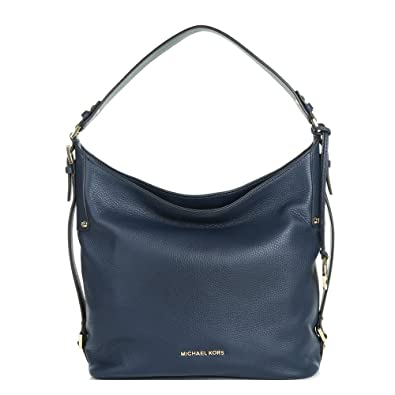 81667532f61b MICHAEL by Michael Kors Bedford Navy Grained Large Shoulder Bag one size  Navy