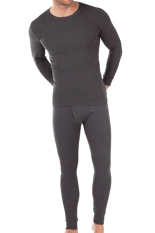 MT® Herren Thermowäsche Set (Hemd + Hose) - Warm, weich und atmungsaktiv durch Klimafaser - M-3XL
