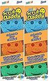 Scrub Daddy Colors Sponge Set - FlexTexture Sponge, Soft in Warm...