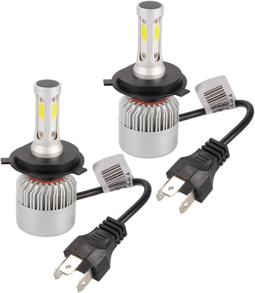 XCSOURCE 20000LM 200W CREE LED faro del coche H4 bombilla de halógeno incorporado en el ventilador de refrigeración 6500K blanco LD1032