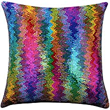 Magic Mermaid Pillow Cover Reversible Sequins Color Changing Pillow Case Funny Home Decoration Gift for Kids