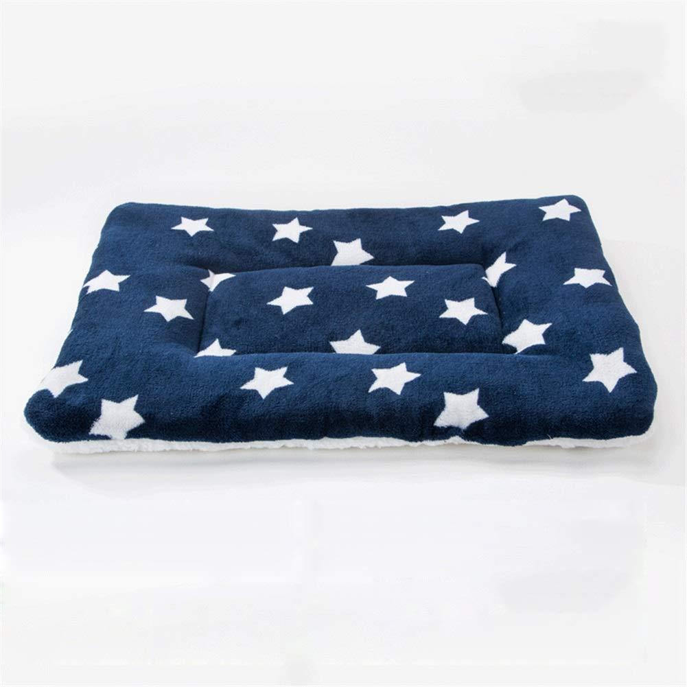 8 S 8 S Dog Bed, Dog Pad Cat Kennel Pad Pet Cotton Pad Blanket Blanket Quilt Bite-Resistant Pet Nest (color   8, Size   S)