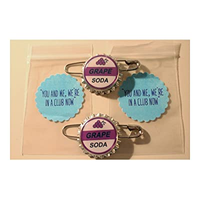 "Set of 2- Replica ELLIE BADGE GRAPE SODA BOTTLECAP PIN! ""UP"" & Sticker Gift Bags Top Rated: Toys & Games"