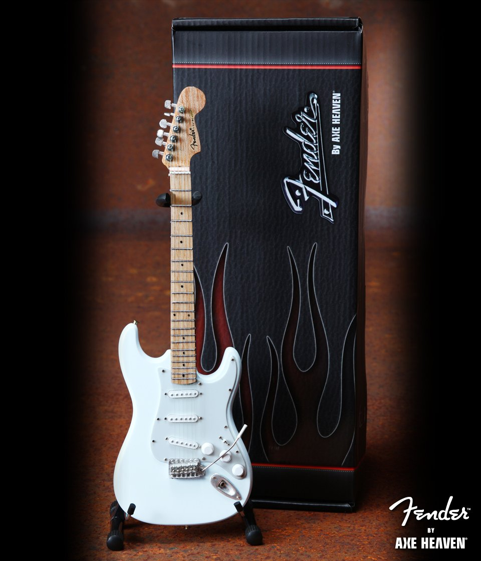 Fender Strat Olympic White Officially Licensed Miniature Guitar Replica