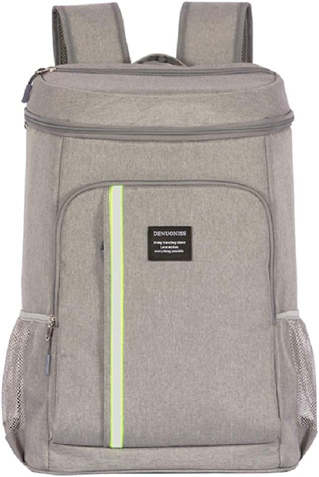 DOACKIEY Insulated Cooler Backpack Lunch Box Bag Leakproof Soft Cooler for Lunch Picnic Hiking Beach Park Camping Trip 32.8L Gray