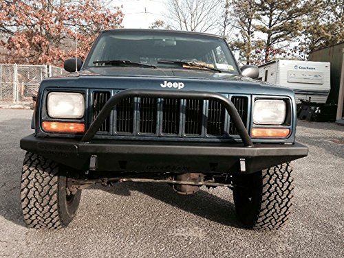 Jeep Cherokee Xj Bumpers >> Amazon Com Cherokee Xj Front Slayer Bumper With Hoop Automotive