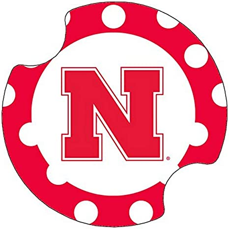 Thirstystone University Of Nebraska Dots Car Cup Holder Coaster 2 Pack Kitchen Dining