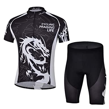 Ophelia Outdoor Multi Colored Men s Cycling Short Sleeve Jersey + 3D Padded  Shorts Set Outfit( c1ba17dd2