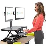 "VersaDesk Power Pro - 36"" Electric Height Adjustable Standing Desk. Power Desk Riser with Keyboard Tray, Black"