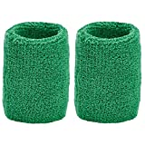 Unique Sports Thick Wristbands, One Size, Green