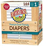 Earth's Best TenderCare Chlorine-Free Disposable Baby Diapers, Size 1 (8-14 lbs), 144 Count