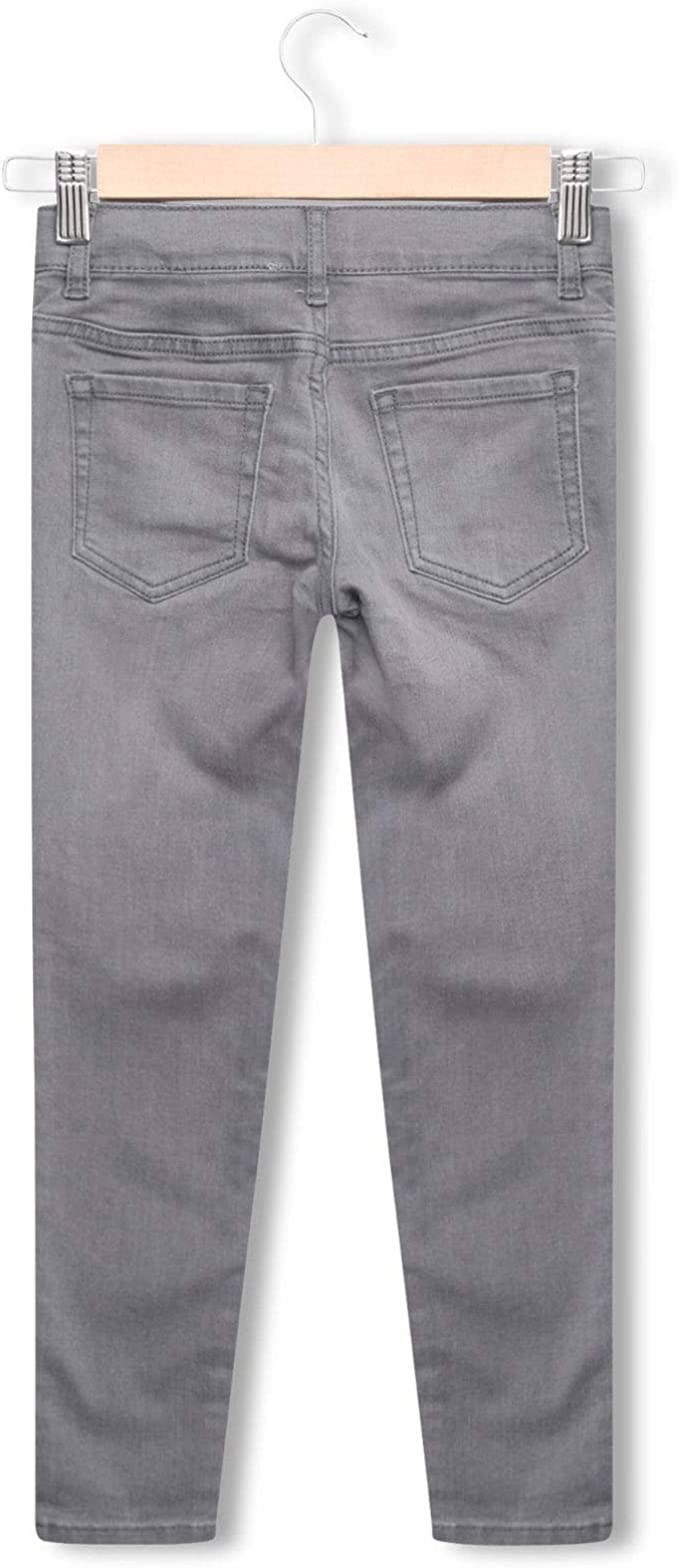 Ex Highstreet Girls Kids Stretch Plain Slim Skinny Jeans Jegging Trousers Denim /& Grey
