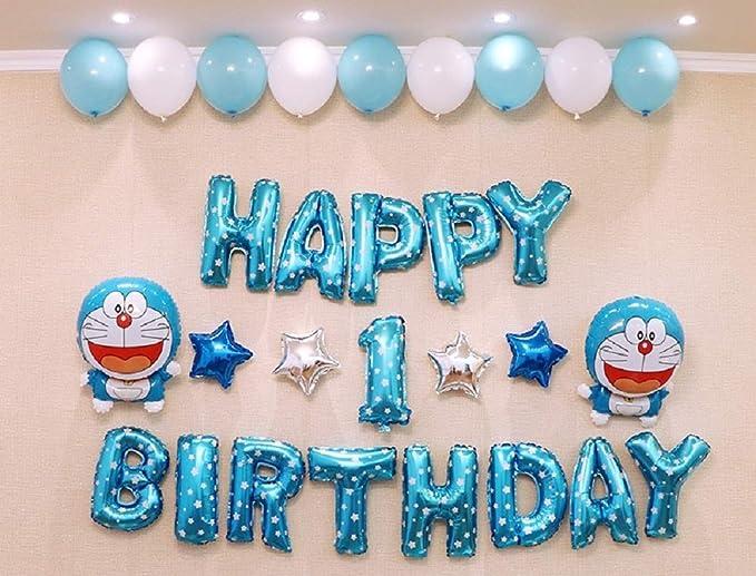 Amazon.com: Doraemon 1 año de edad decoraciones fiesta set ...