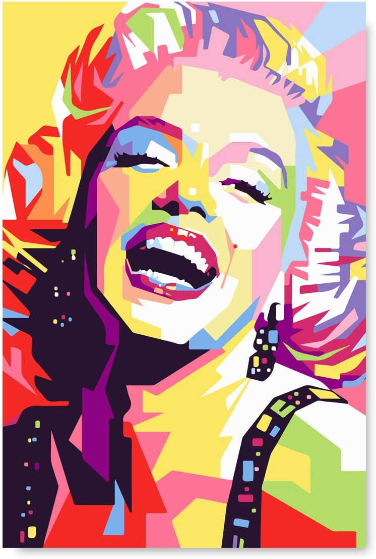 Christmas Sweater for women Marilyn Monroe Print Decore Colorful Painting Wall Art Decor Luxury Poster American Retro Movie 24