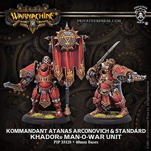 Privateer Press PIP33128 Khador Kommandant Atanas Arconovich /& Standard Miniature Game
