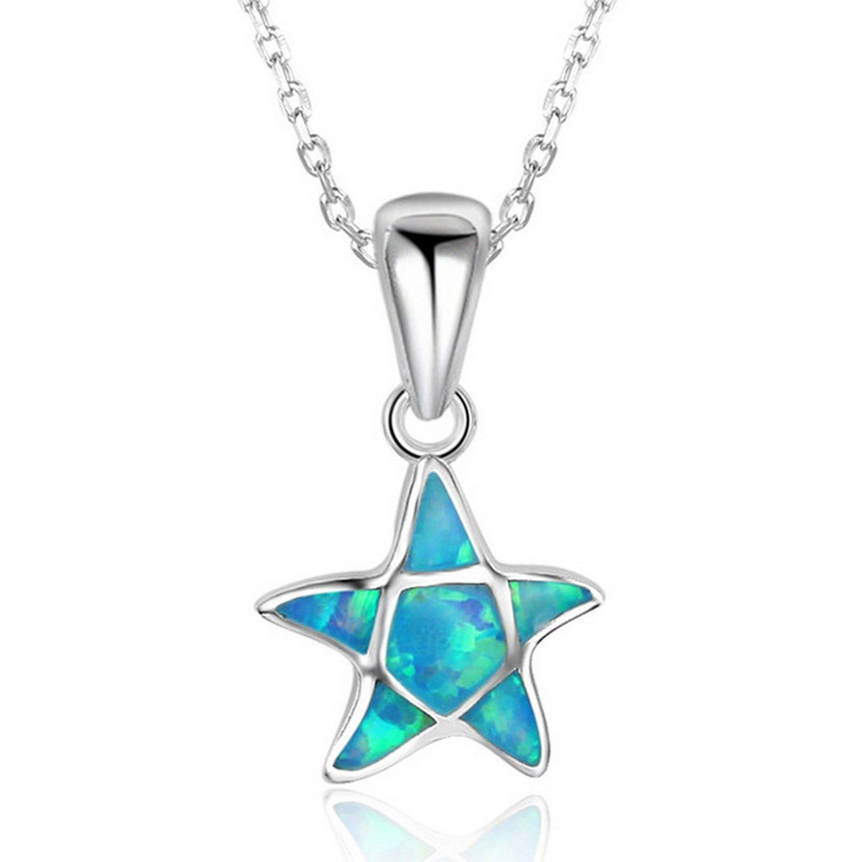 CS-DB Pendants Animal Starfish Silver Necklaces