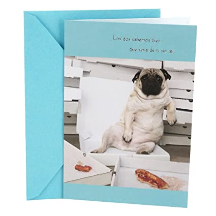 Amazon Hallmark Vida Spanish Funny Birthday Greeting Card For