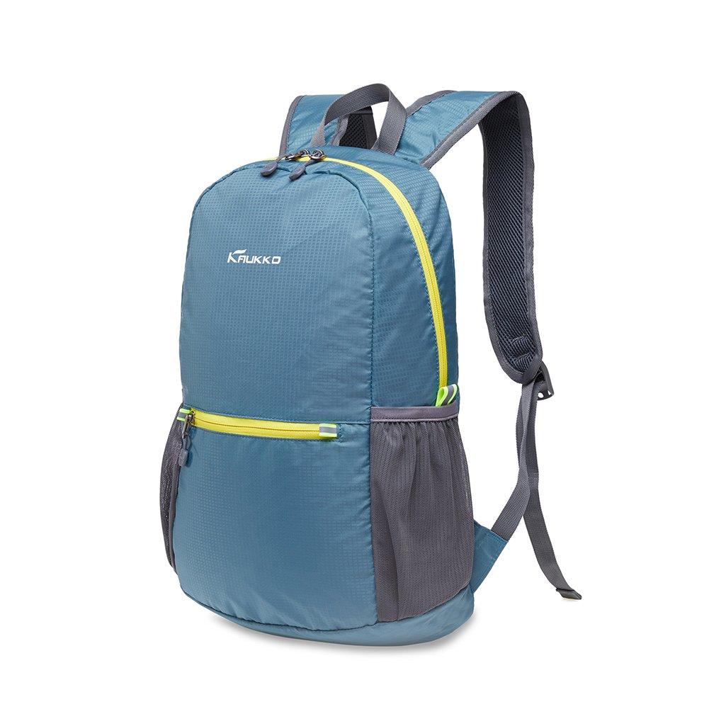 KAUKKO Laptop Outdoor Backpack, Travel Hiking& Camping Rucksack Pack, Casual Large College School Daypack, Shoulder Book Bags Back Fits 15'' Laptop & Tablets (01GREEN) by KAUKKO (Image #8)