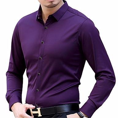 a52647b8f14 Men s Long Sleeve Slim Fit Smart Formal Business Suit Shirt Casual Daily  Wear Office Wear Shirt