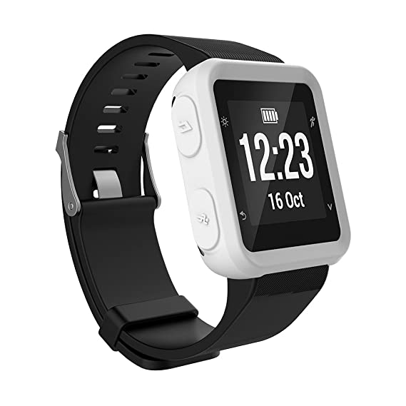 Onpiece Case for Garmin Forerunner 35 Approach S20, Silicone Full Body Protector Cover Accessories for Garmin Vivoactive HR Smart Watch (White)