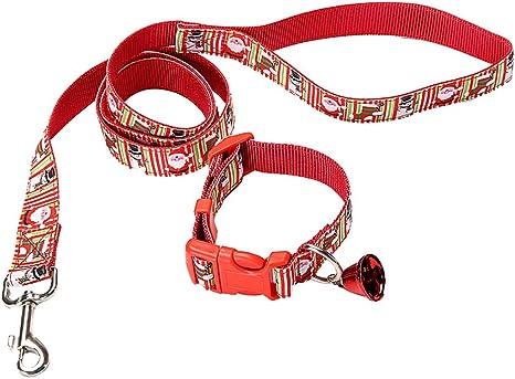 zhxinashu Perro Arneses Collares Collar Lazo - Mascota Navidad ...