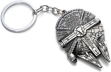 Star Wars Millenium Falcon Metal Star Destroyer Keyring Keychain Key Chain Ring
