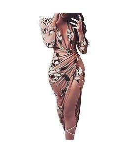 ELECTRI 2018 Nouvelle Mode Femme Printemps Automne Hiver Élégant Outwear Confortable Loose Cardigan Veste Lâche Coat Chic Robe imprimée à Fleurs à Manches Longues pour Femme (S, café)