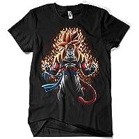 Camisetas La Colmena 4078-Battle Fire Gogeta ssj4 Fuego (albertocubatas)