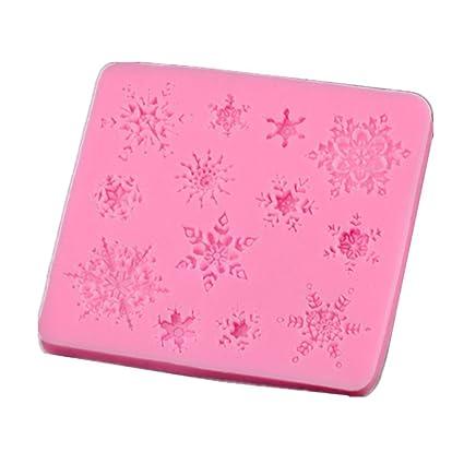 vbai copo de nieve Mold molde para hornear moldes de pastel fondant molde para decoración de