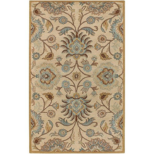 Elizabeth Wool Rectangle Rugs in Roman Beige - Model No. Elizabeth-D (Beige Roman Flooring)