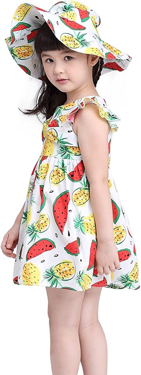 Love Sun Watermelon Toddler Girl Tulip Tunic