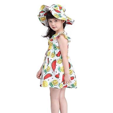 02a2eea280889c Amazon.com  Kimocat Girls Watermelon Dress
