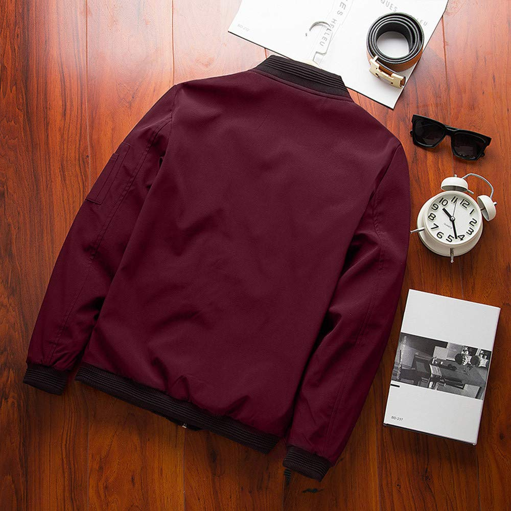 Corriee Mens Fashion Plus Size Zipper Sport Jackets Outwear Men Fall Winter Coat Mens Baseball Jacket