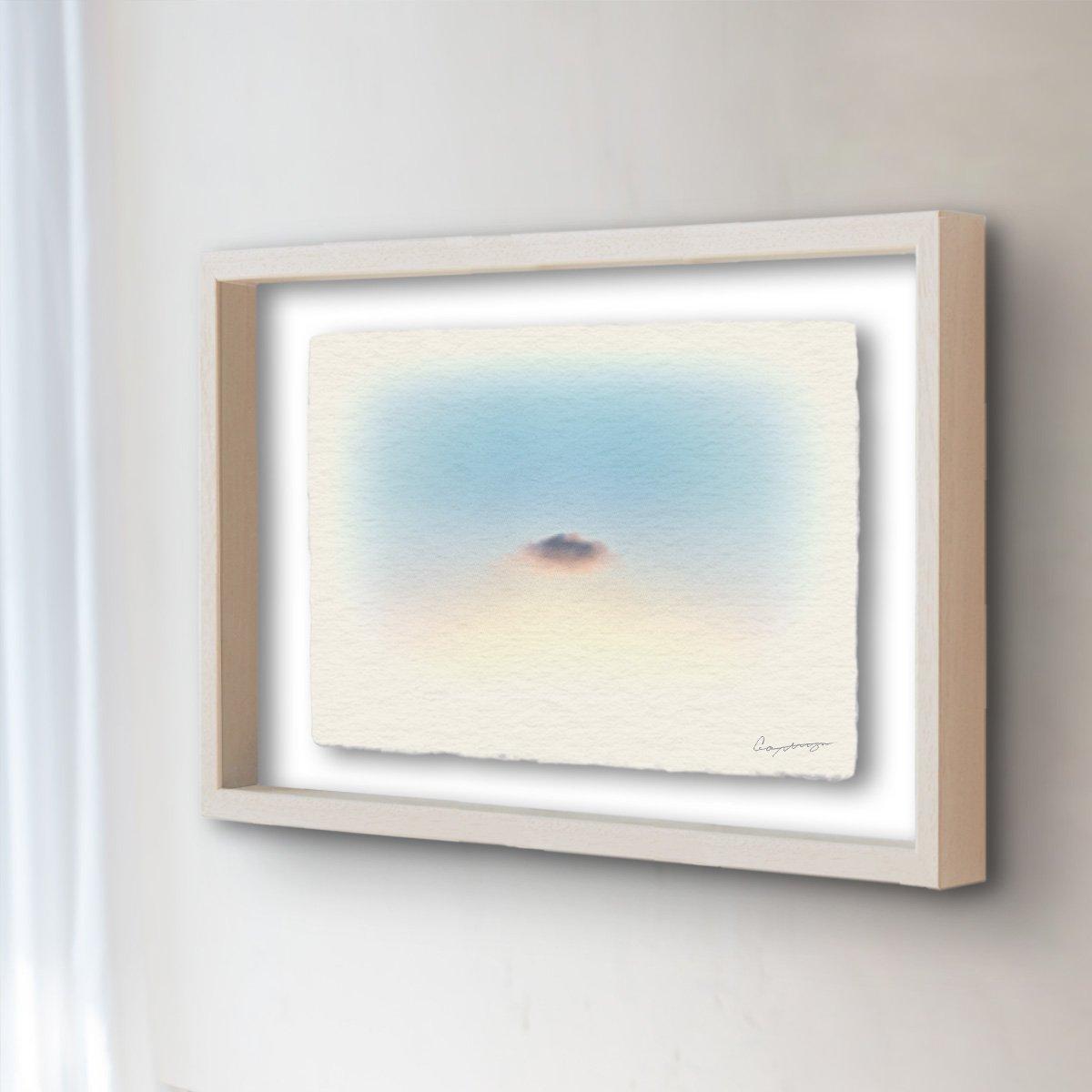 和紙 アートフレーム 「夕暮れのはぐれ雲」 (52x42cm) 絵 絵画 壁掛け 壁飾り 額縁 インテリア アート B074Y4GBZT 24.アートフレーム(長辺52cm) 55000円|夕暮れのはぐれ雲 夕暮れのはぐれ雲 24.アートフレーム(長辺52cm) 55000円