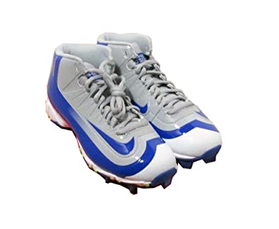Nike Huarache 2KFilth Keystone Mid Men's Baseball Cleats Grey-Blue-White  11.5 US