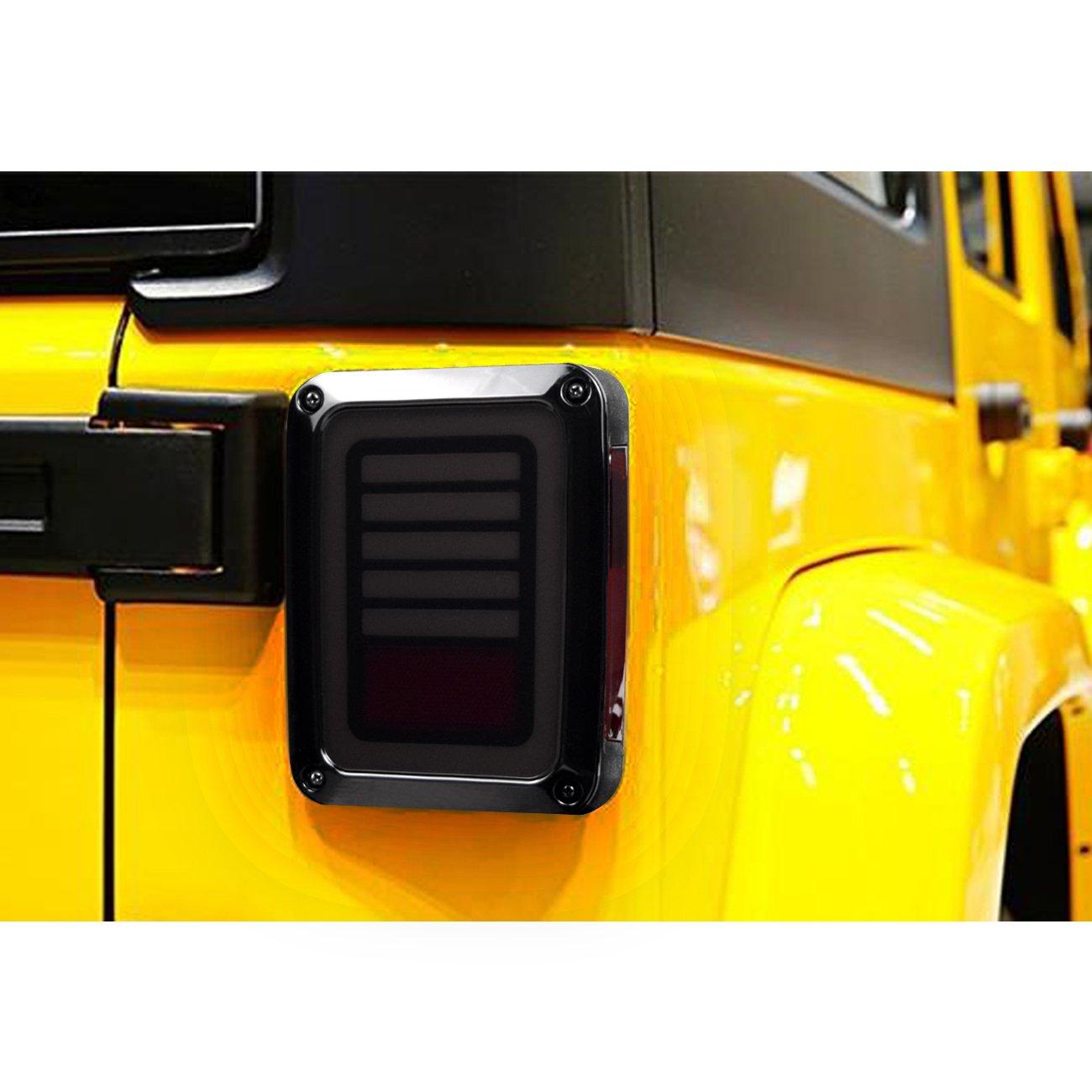 DIYTUNINGS LED Smoked Avenger Tail Lights for Jeep Wrangler JK 2/&4 Door 2007 2008 2009 2010 2011 2012 2013 2014 2015 2016 2017-Pair 4350375855