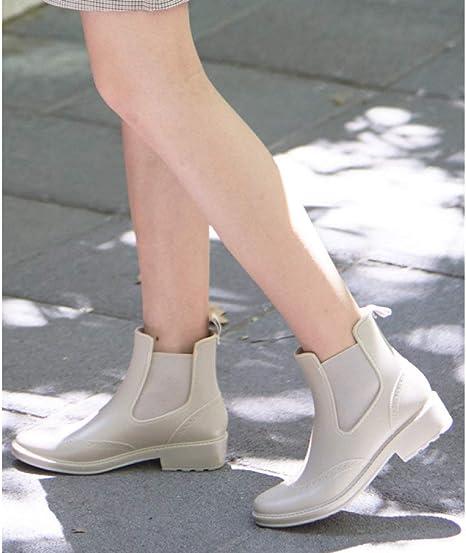 Stivali da Pioggia,Stivali di Gomma Corto Acqua Impermeabile
