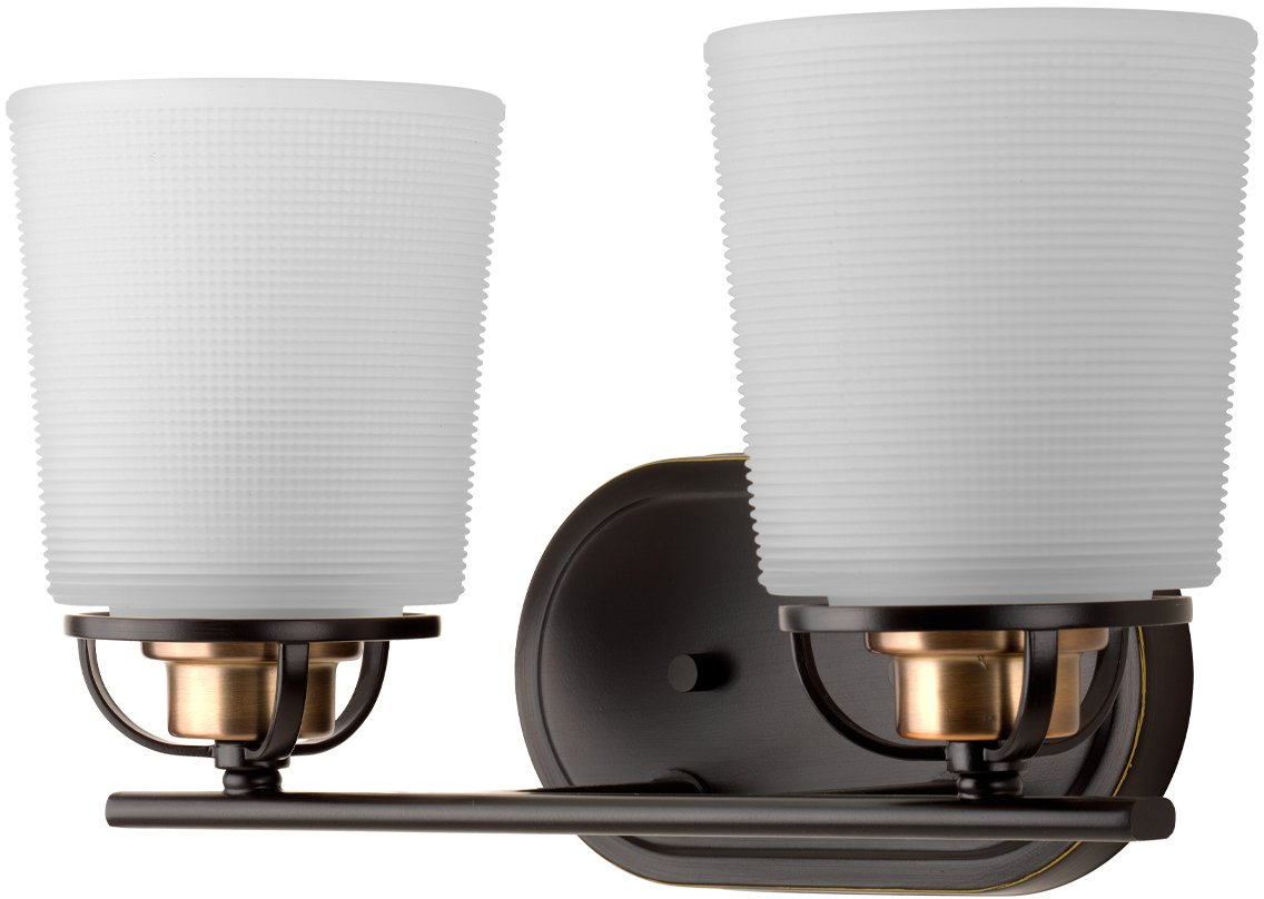 Luxury Transitional Bathroom Vanity Light, Medium Size: 8.125'' H x 14.125'' W, with Industrial Chic Style Elements, Olde Bronze Finish, UHP2760 from The Boise Collection by Urban Ambiance