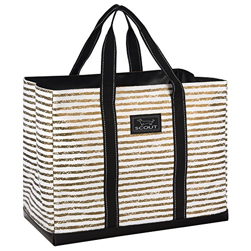 Price comparison product image SCOUT Original Deano Large Tote Bag,  For The Beach,  Pool or Travel,  Folds Flat,  Water Resistant,  Sturdy Base,  Interior Key Ring,  Chalk Down the Aisle