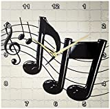 3dRose dpp_4105_2 Music Notes Wall Clock, 13 by 13-Inch Review