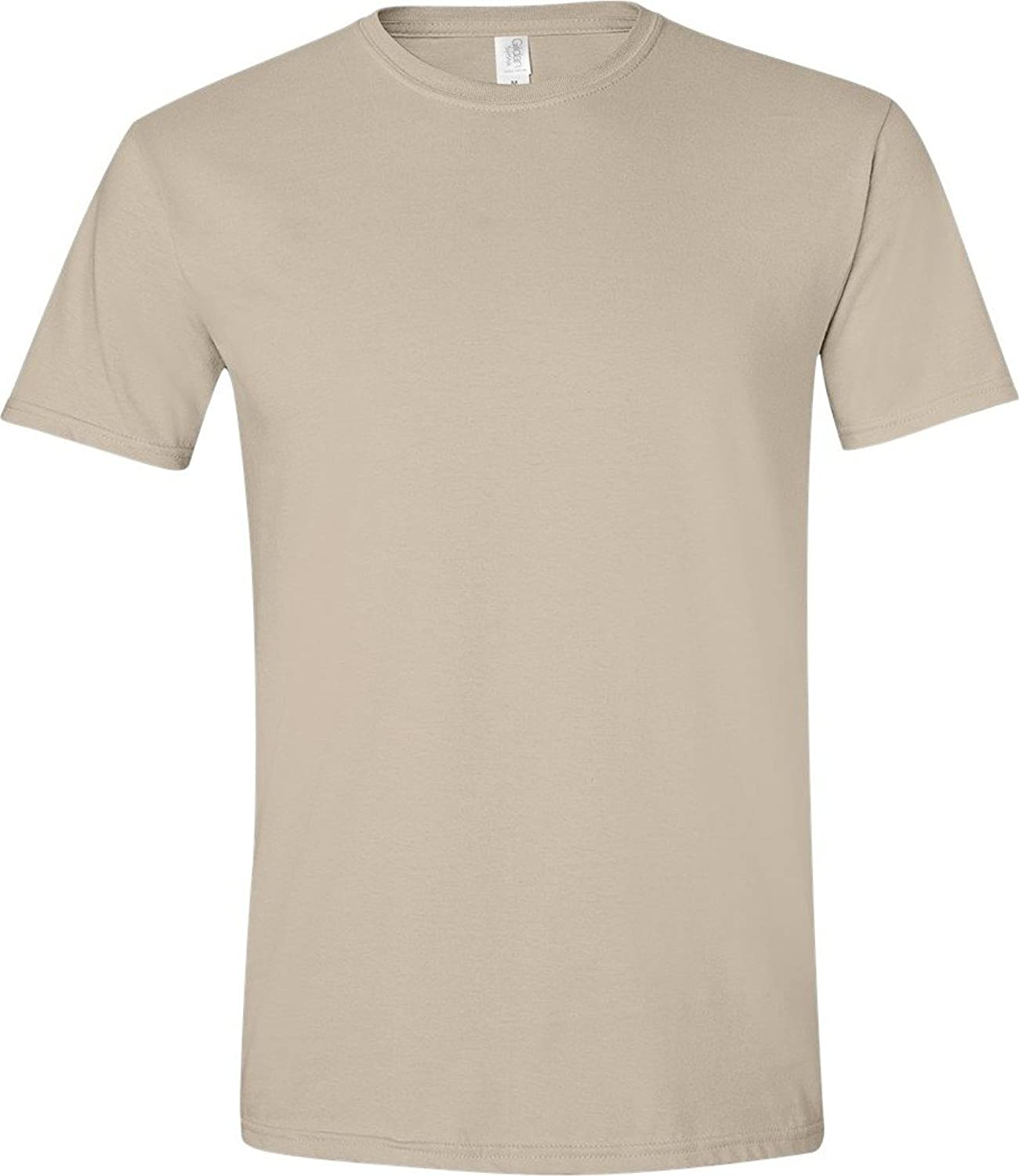 Gildan Men's SoftStyle Fashion Double-Needle T-Shirt, Sand, XX-Large