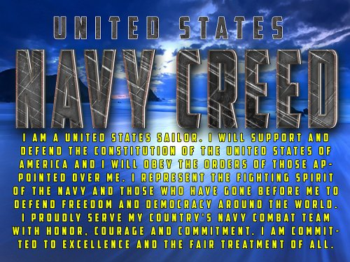 US Navy Creed Poster V10 US Military Gift Navy Gifts