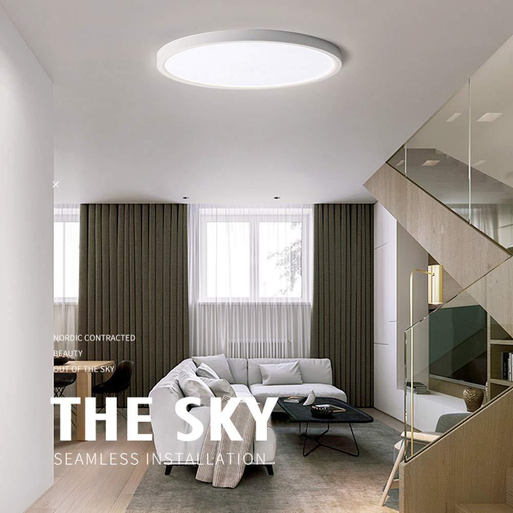 FSBMIN Plafoniera da soffitto 9W LED Lampada impermeabile a sottile Bianco naturale 6500K per Sala da pranzo Bagno Camera da letto Cucina Balcone Corridoio Classe di efficienza energetica A++