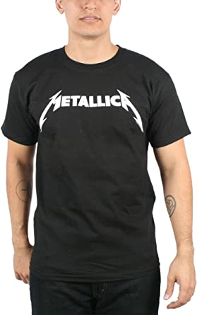 Metallica - Camiseta - Hombre de Color Negro de Talla XX-Large Uomo Nero & Bianco Logo (Camiseta) In Nero, XX-Large, Nero: Amazon.es: Ropa y accesorios
