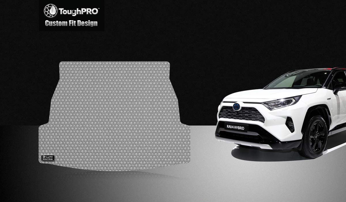 TOUGHPRO Cargo/Trunk Mat Accessories Compatible with Toyota RAV4 - All Weather - Heavy Duty - (Made in USA) - Gray Rubber - 2019, 2020