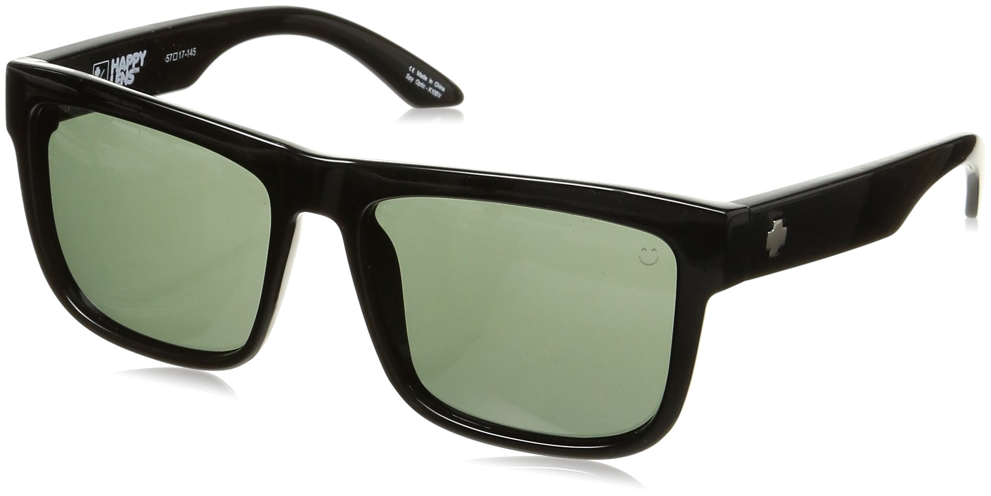Spy Optic Discord Flat Sunglasses, Black/Happy Gray/Green, 57 mm
