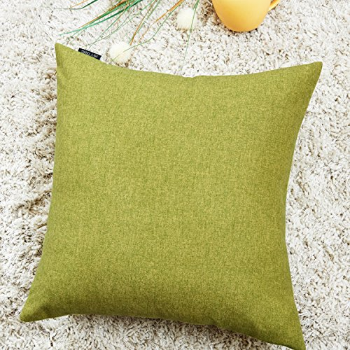 Hey Tang Cotton Linen Soft Soild Decorative Square Throw Pillow Covers Set Cushion Case for Sofa Bedroom Car 20 x 20 Inch 50 x 50 (Heys Edge Case)