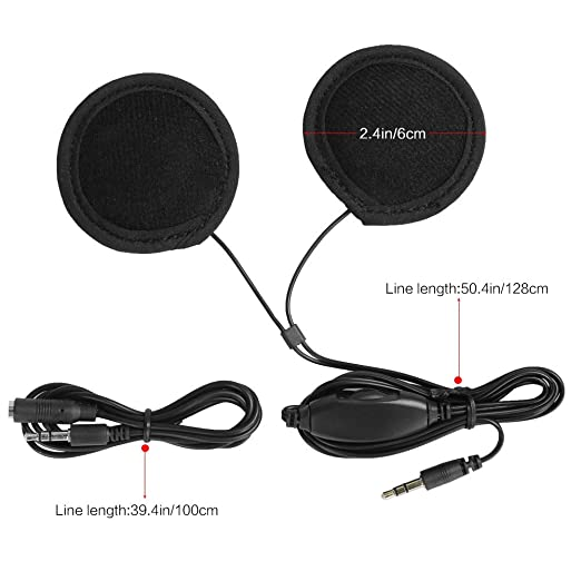 Rupse - Control de volumen 3,5 mm auriculares casco de moto con micrófono integrado para teléfono móvil MP3 GPS: Amazon.es: Electrónica