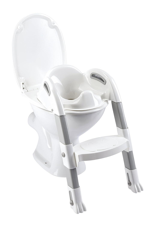 Thermobaby THE-003-SZ Kiddyloo Toiletten-Trainer, Weiß/Grau Weiß/Grau MOLEO Sp.z o.o. 2172500